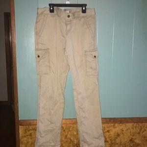 Loft ankle cargo pants